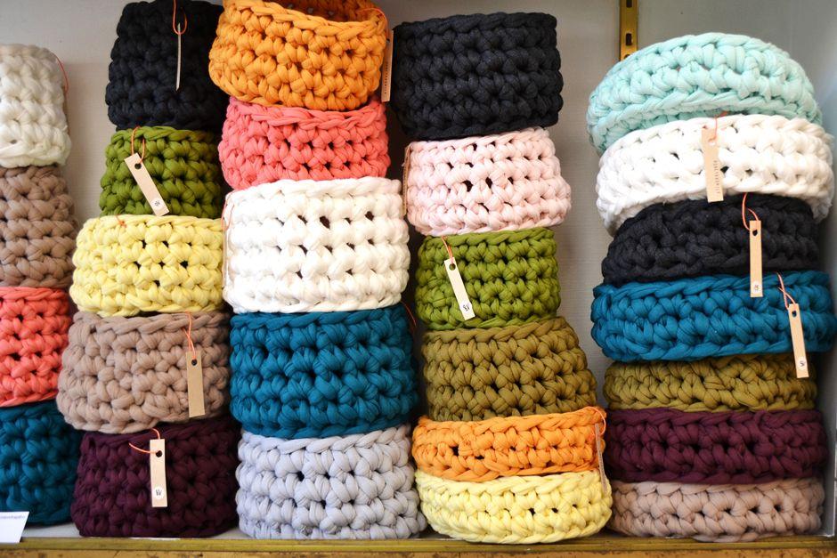 Les corbeilles en crochet de Pascaline Delamarche - LaFabriQ